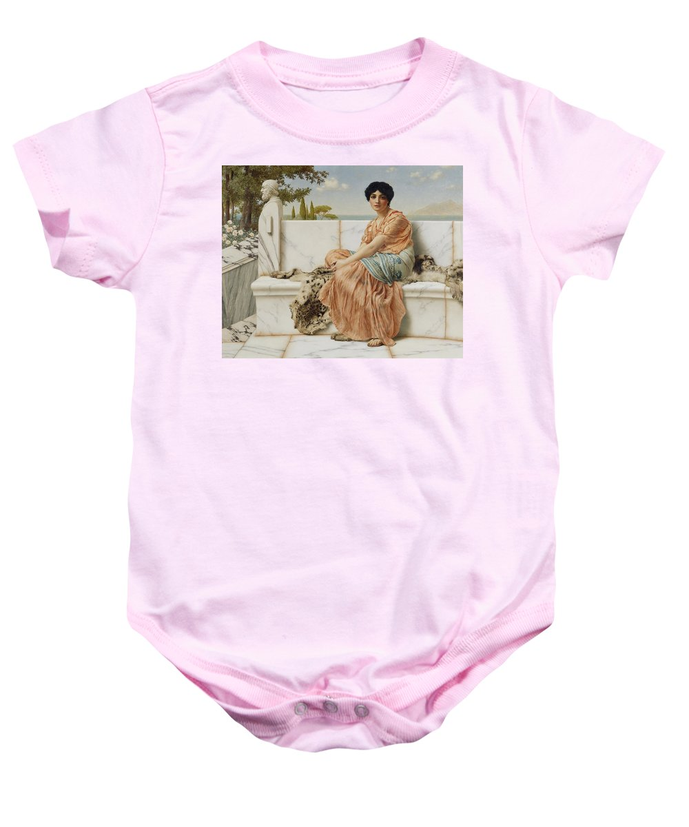 Godward Baby Onesie featuring the painting Reverie by John William Godward