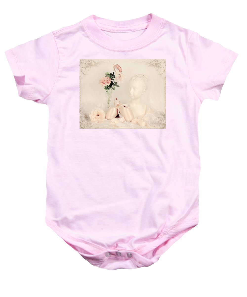 Ballet Baby Onesie featuring the photograph Shabby Chic Ballet by Theresa Tahara