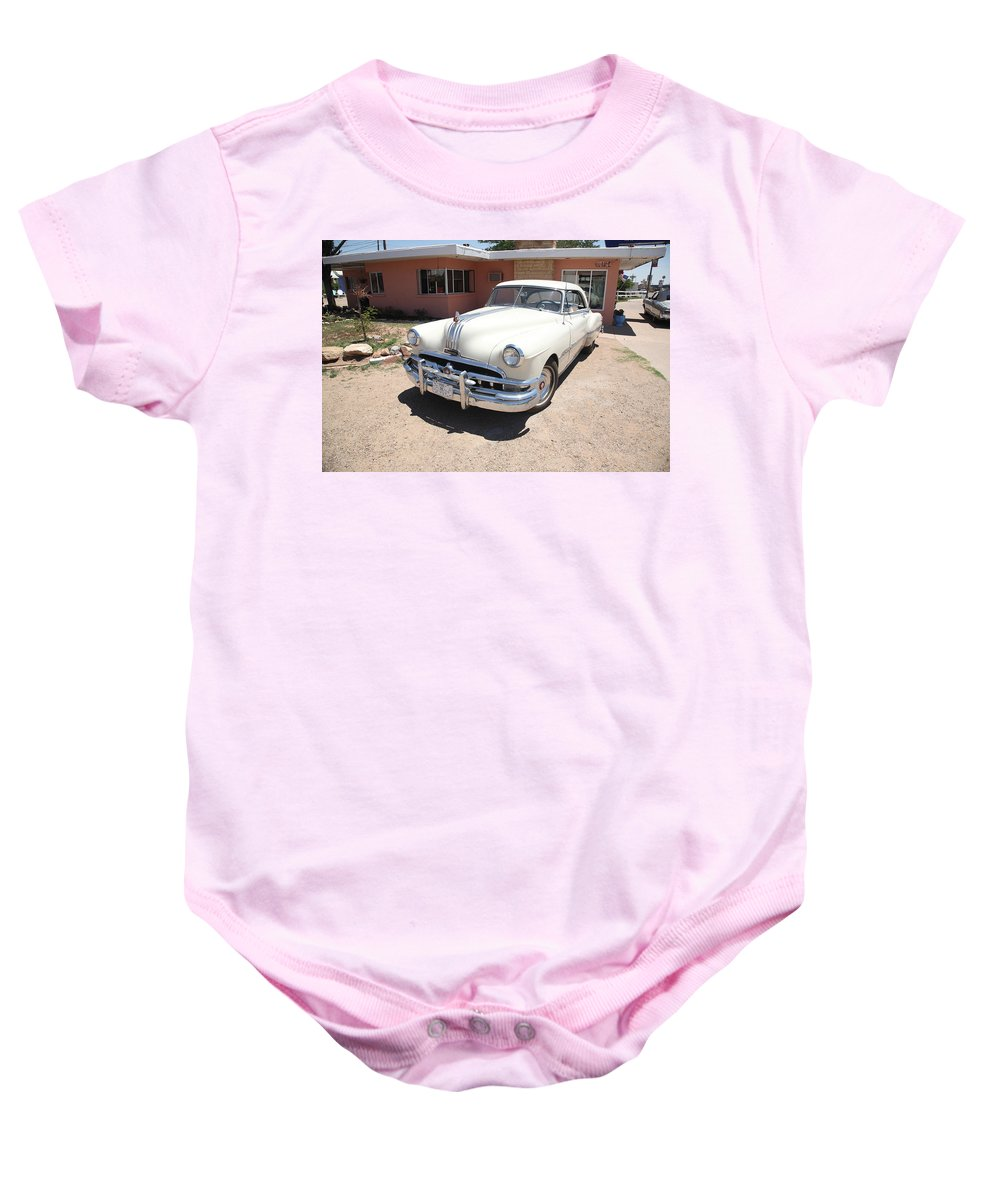 66 Baby Onesie featuring the photograph Route 66 - Classic Pontiac by Frank Romeo