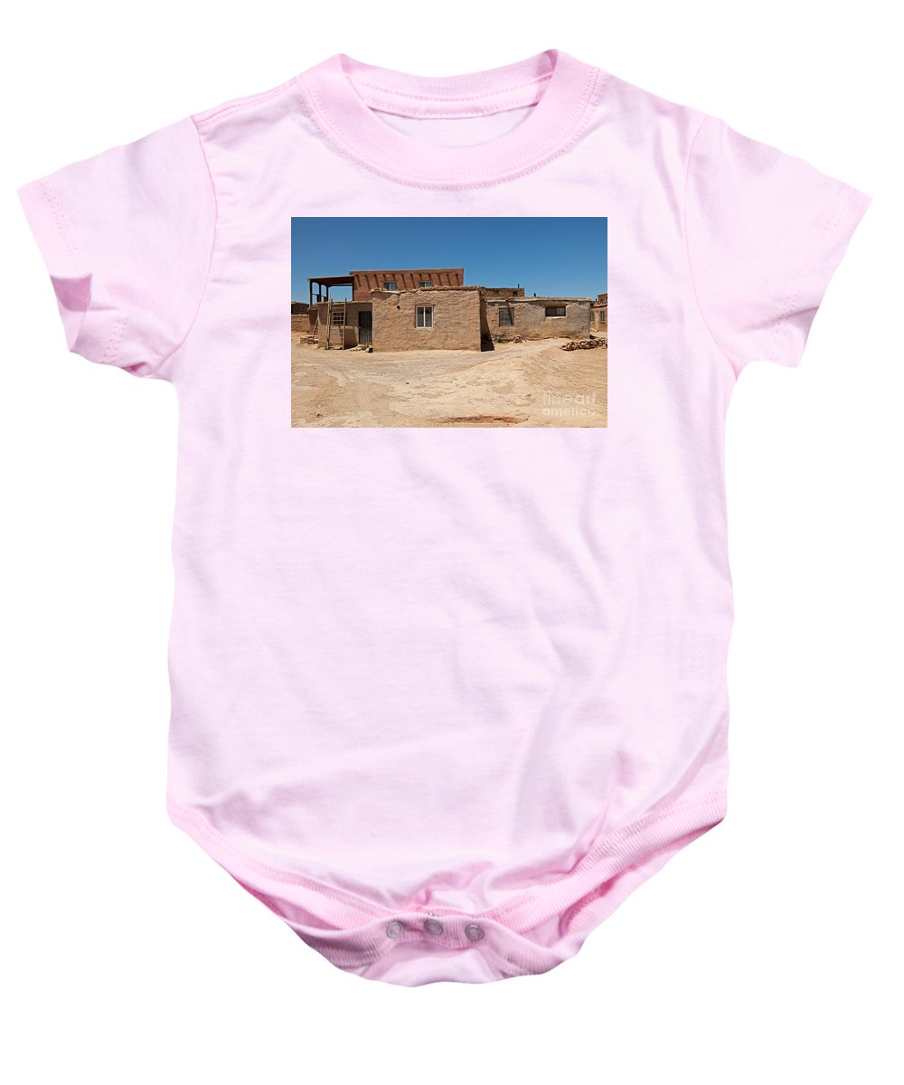 Acoma Baby Onesie featuring the photograph Sky City Acoma Pueblo by Fred Stearns