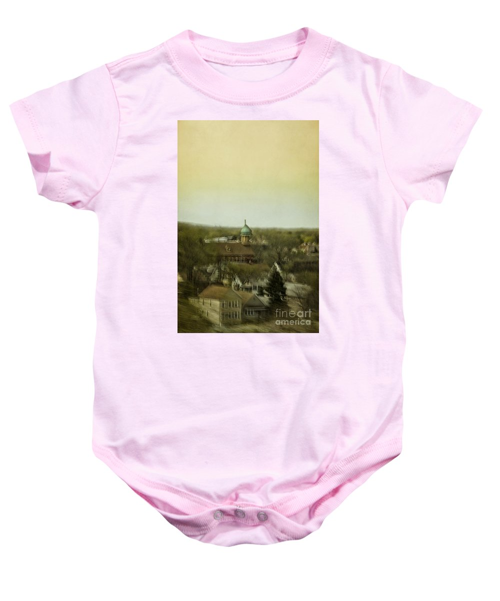 Aerial Baby Onesie featuring the photograph A View From Above by Margie Hurwich