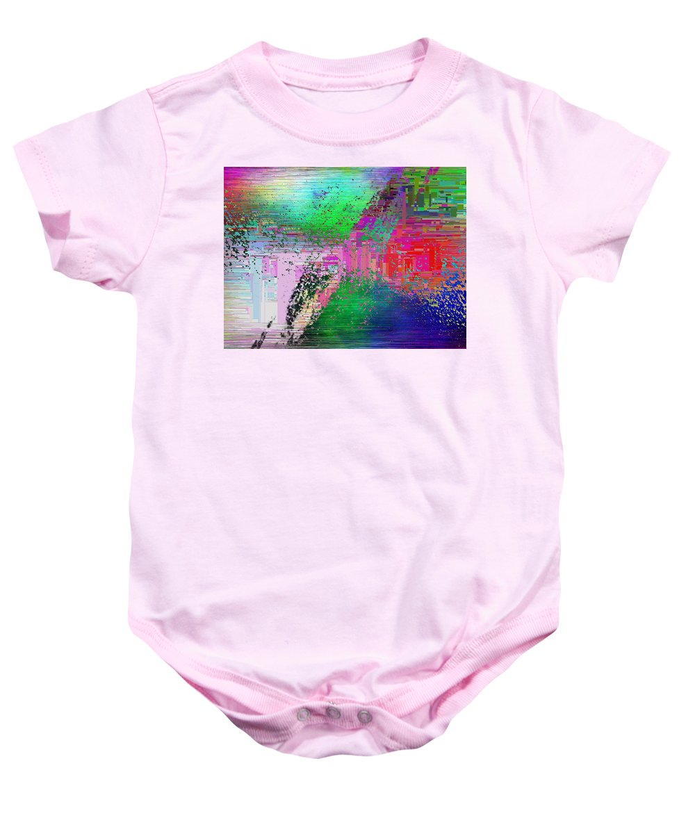 Abstract Baby Onesie featuring the digital art Abstract Cubed 1 by Tim Allen