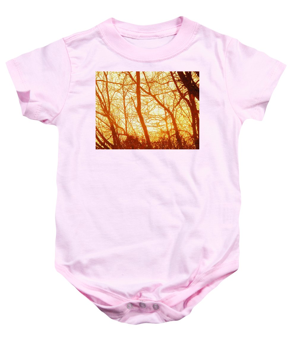 Sun Baby Onesie featuring the painting Afternoon Love by Robert Nacke