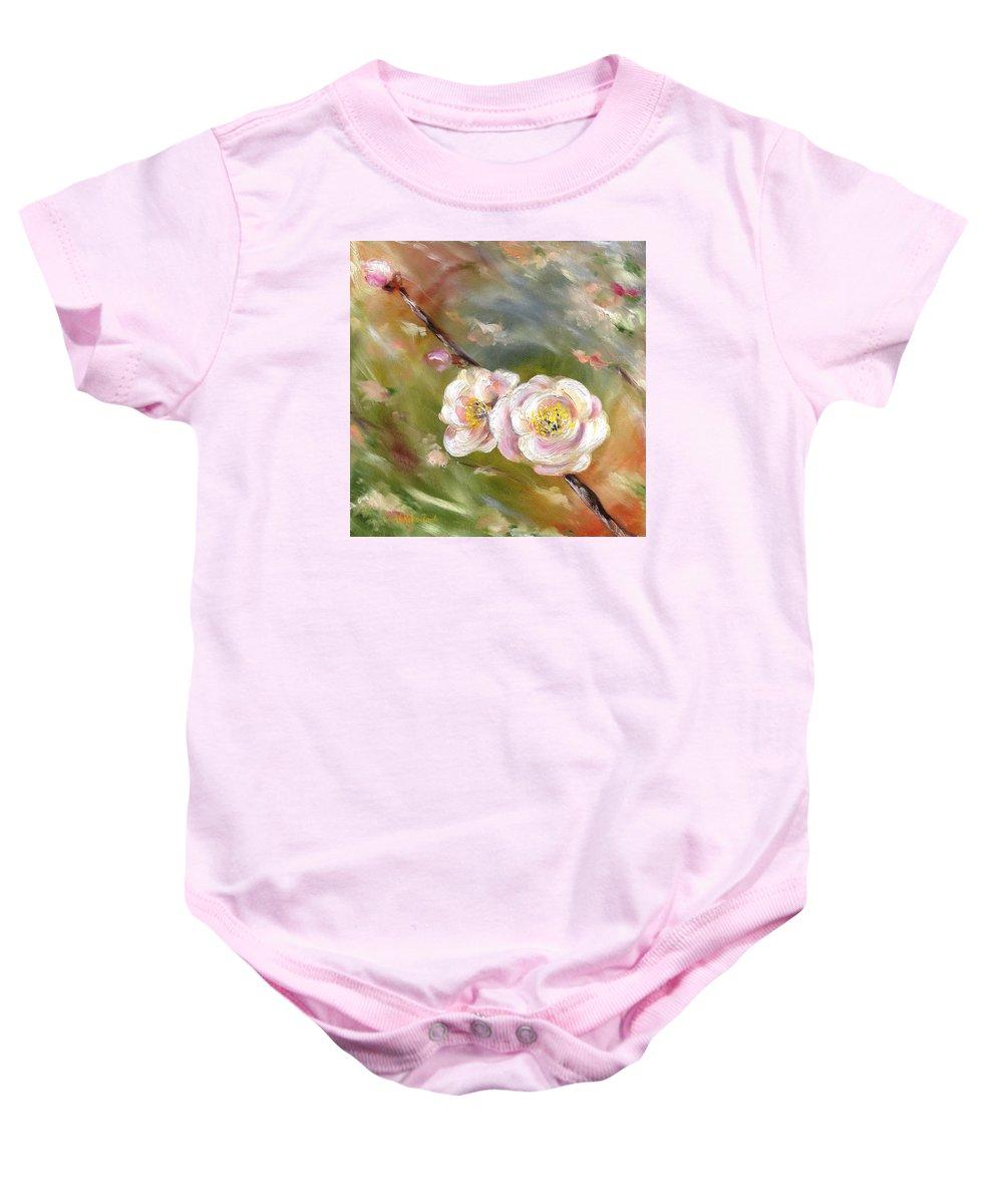 Flower Baby Onesie featuring the painting Anniversary by Hiroko Sakai