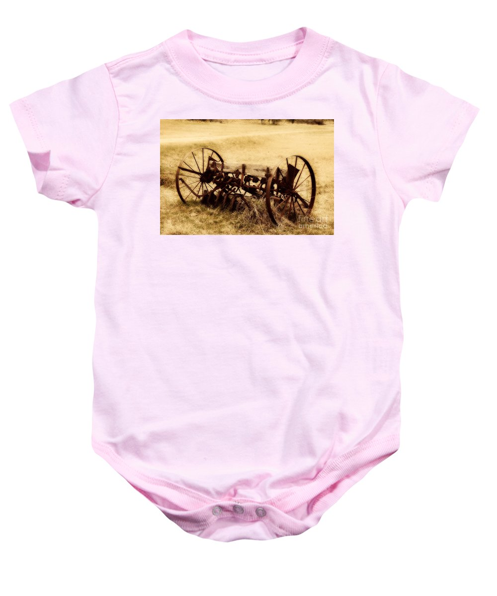 Antique Baby Onesie featuring the photograph Antique Plough by Douglas Barnard