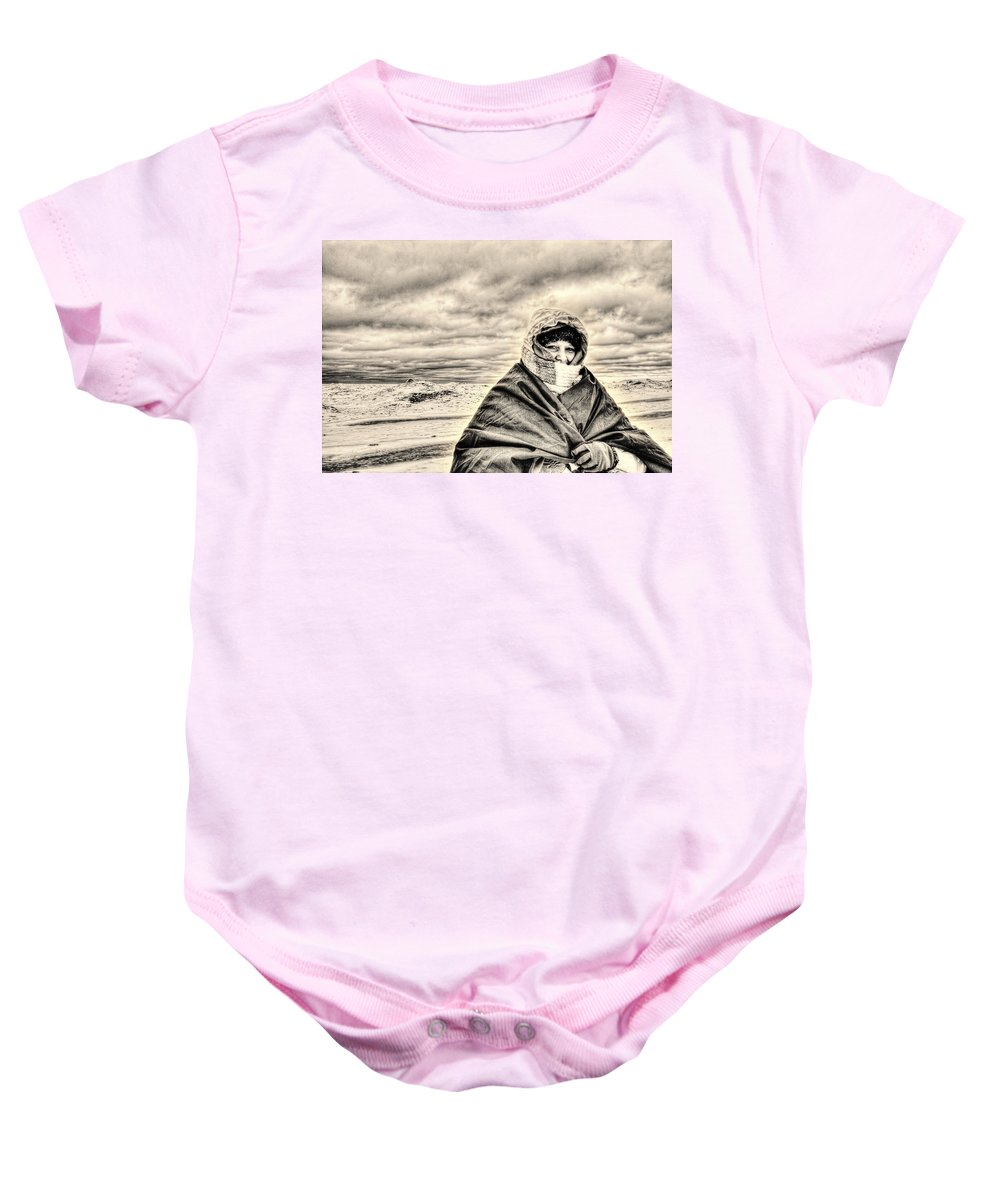 Cold Baby Onesie featuring the photograph Arctic Indiana by Scott Wood
