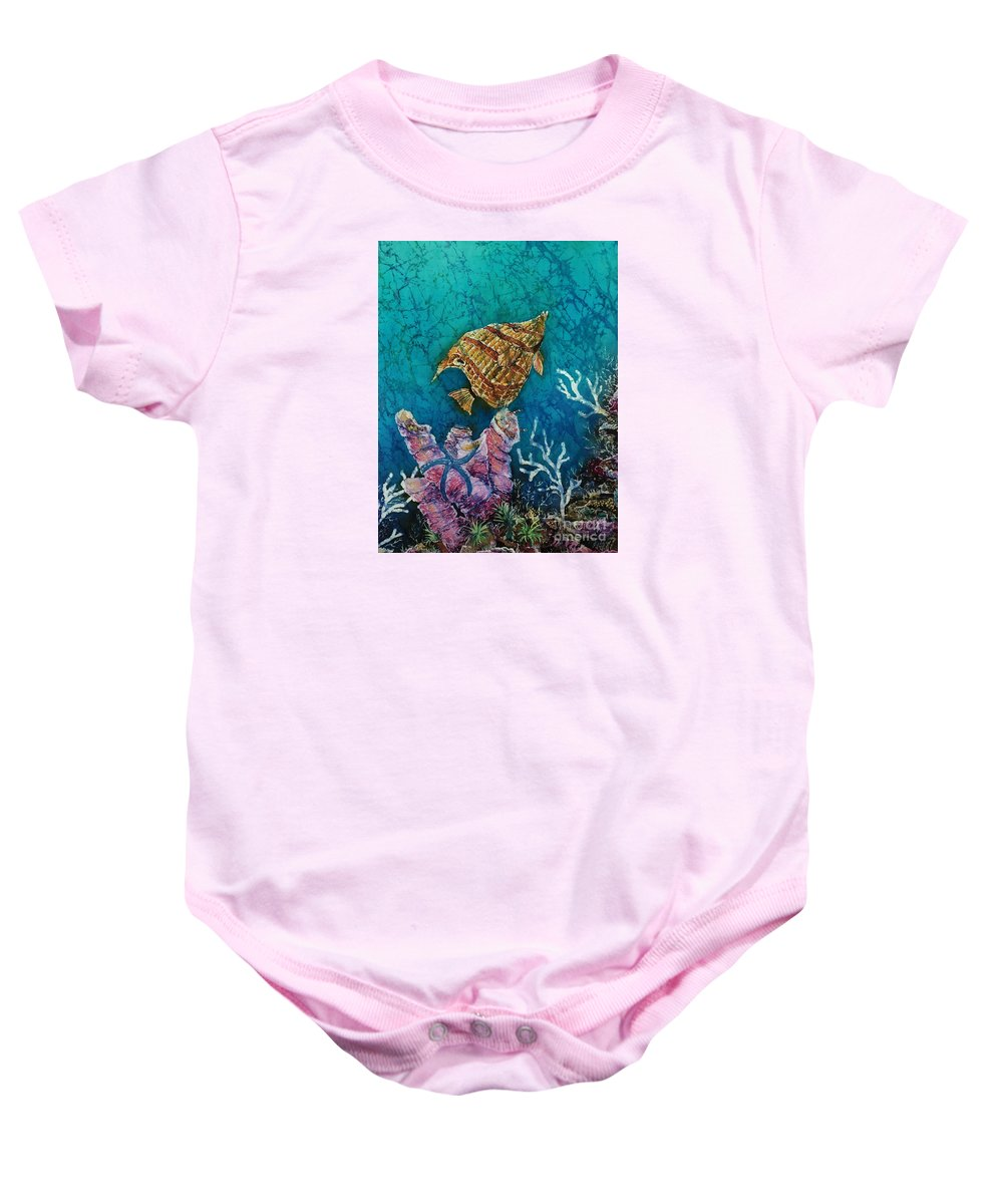 Ocean Baby Onesie featuring the painting Ascent by Sue Duda