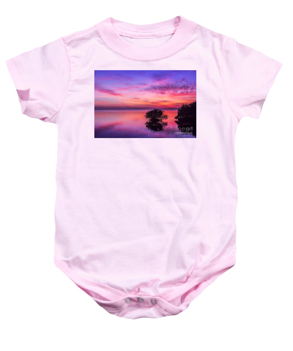 At Days End Baby Onesie featuring the photograph At Days End by Marvin Spates