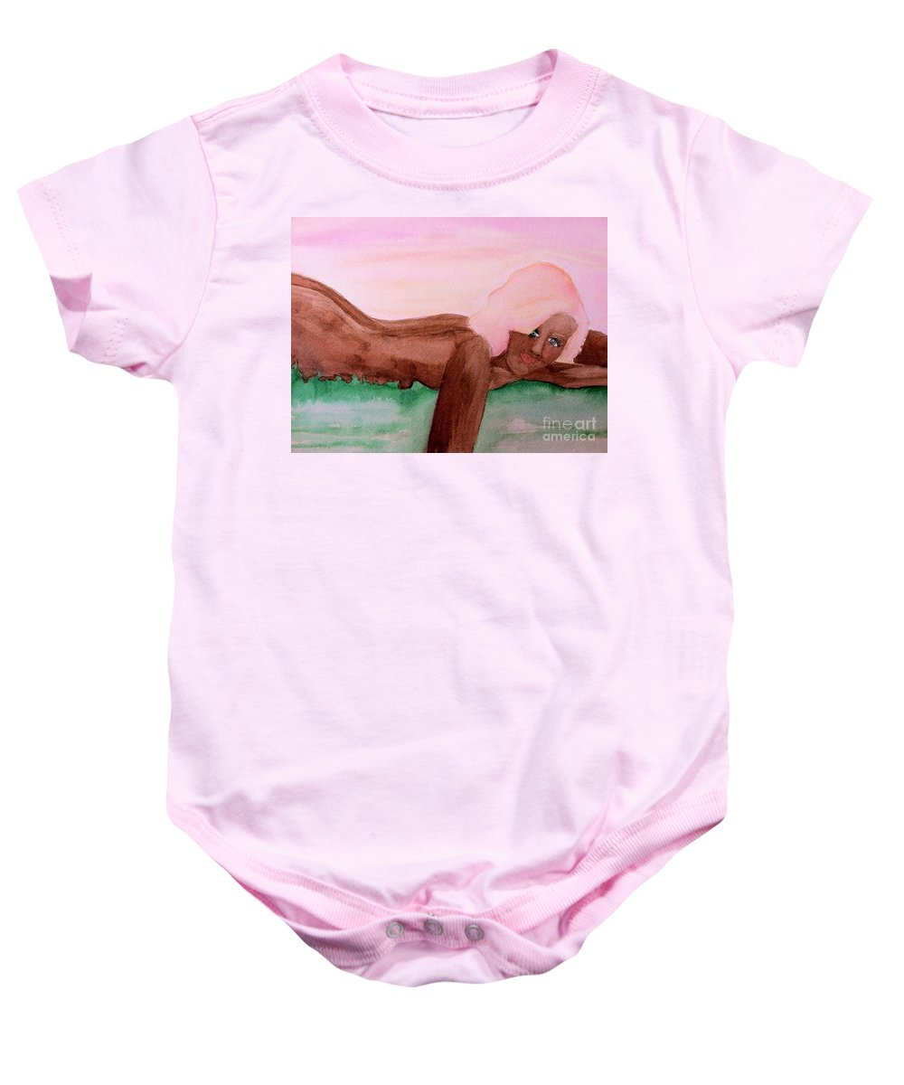 Sunset Baby Onesie featuring the photograph August by Melissa Darnell Glowacki