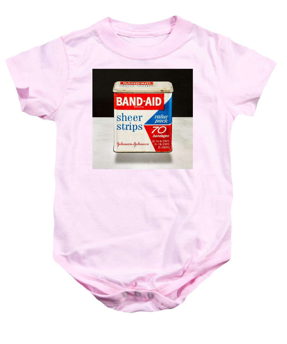 Band-aid Baby Onesie featuring the photograph Band-aid Box by Yo Pedro