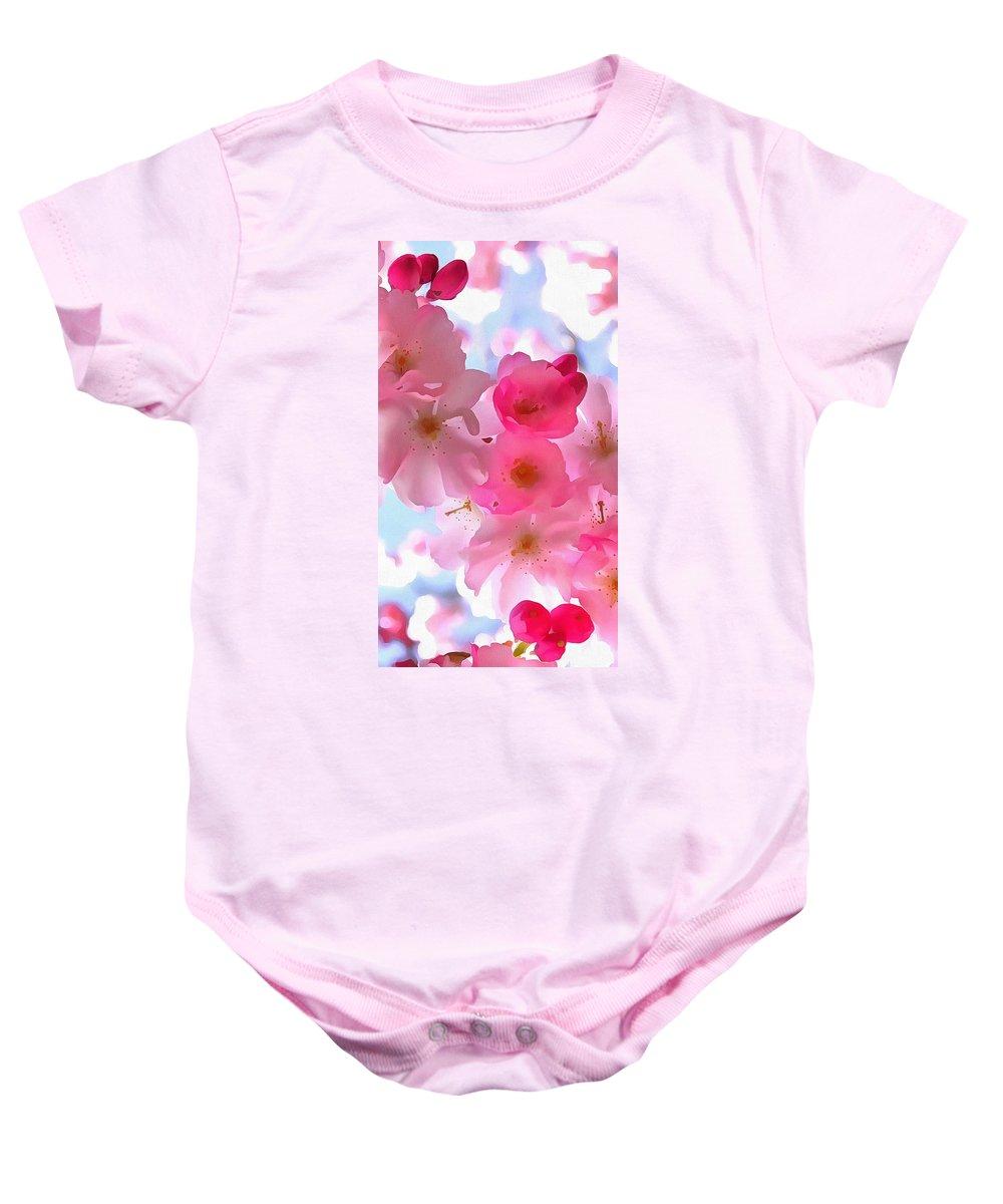 Beautiful Blooms Baby Onesie featuring the digital art Beautiful Blooms by Catherine Lott