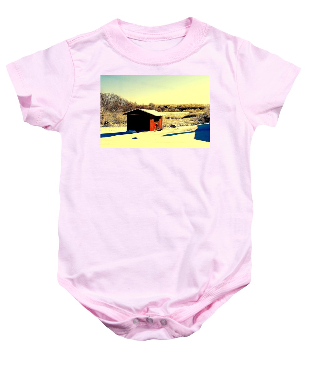 Black Baby Onesie featuring the photograph Black And Color by Frozen in Time Fine Art Photography