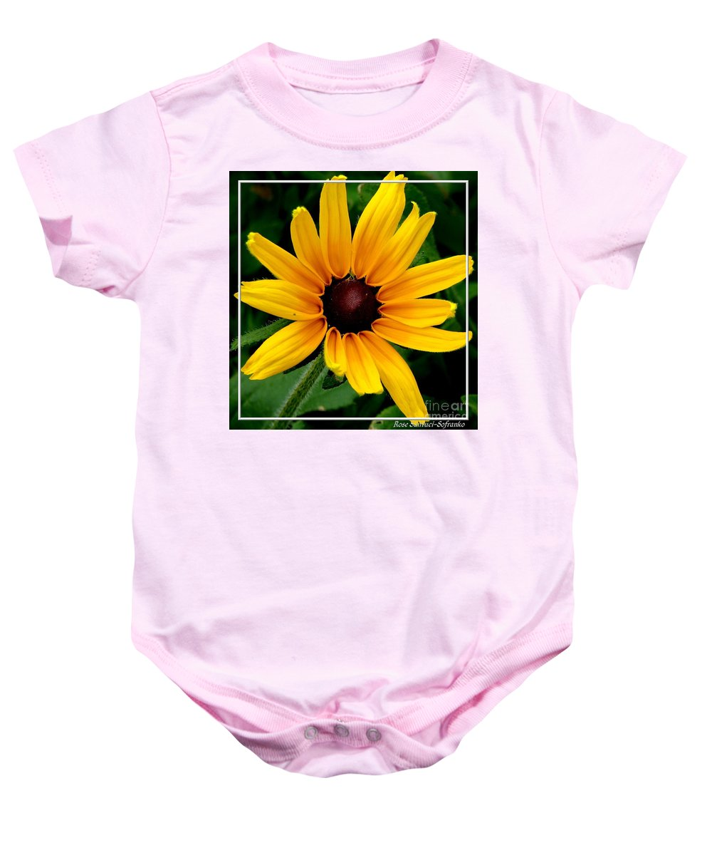 Black-eyed Susan Baby Onesie featuring the photograph Blackeyed Susan by Rose Santuci-Sofranko