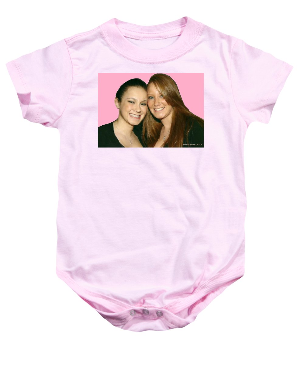 Nutting Baby Onesie featuring the painting Brittany And Nicole Nutting by Bruce Nutting