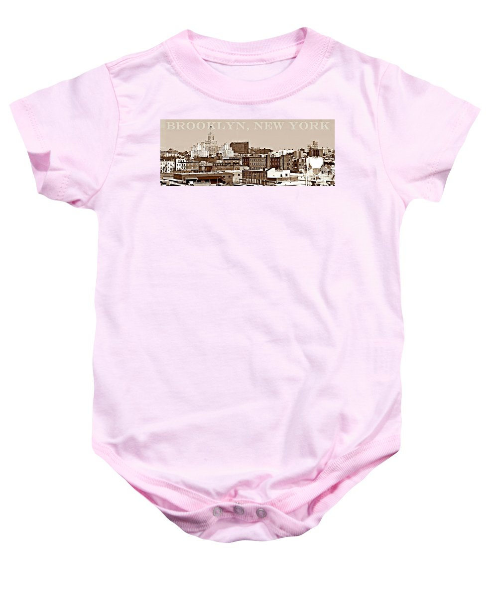 Brooklyn Baby Onesie featuring the photograph Brooklyn New York by Lilliana Mendez