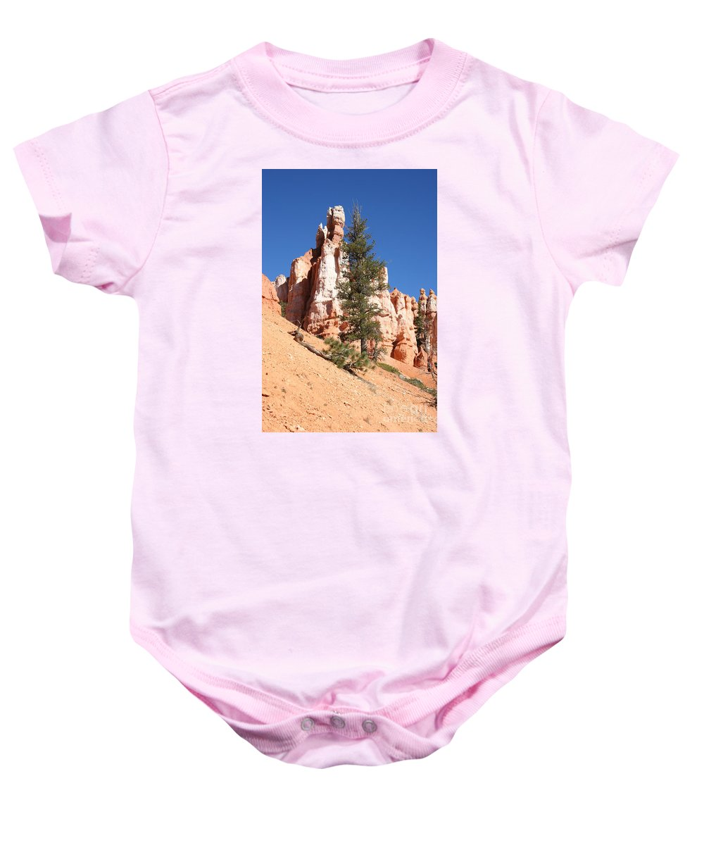 Canyon Baby Onesie featuring the photograph Bryce Canyon Red Fins by Christiane Schulze Art And Photography