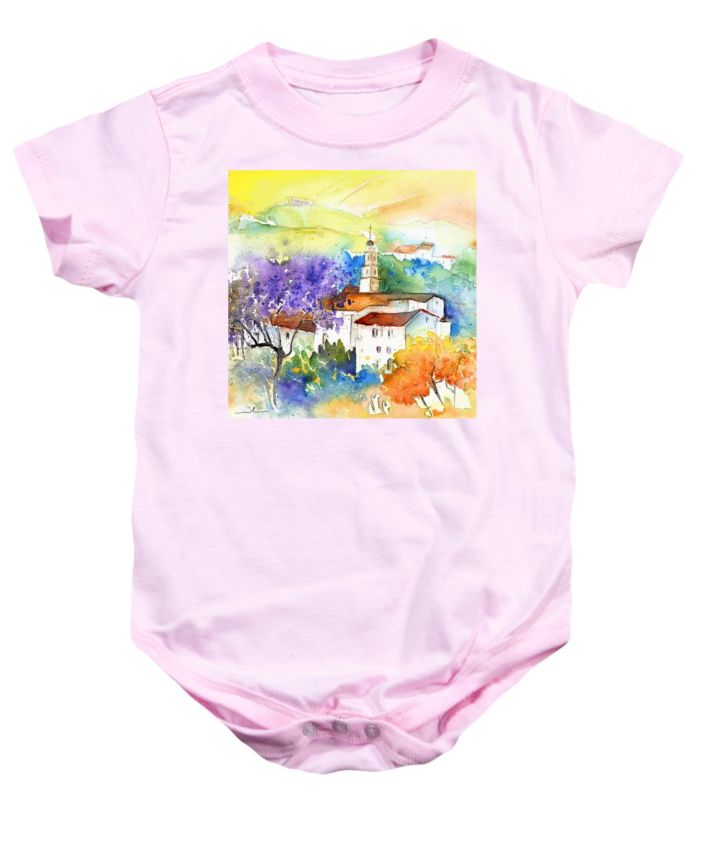 Travel Baby Onesie featuring the painting By Teruel Spain 02 by Miki De Goodaboom