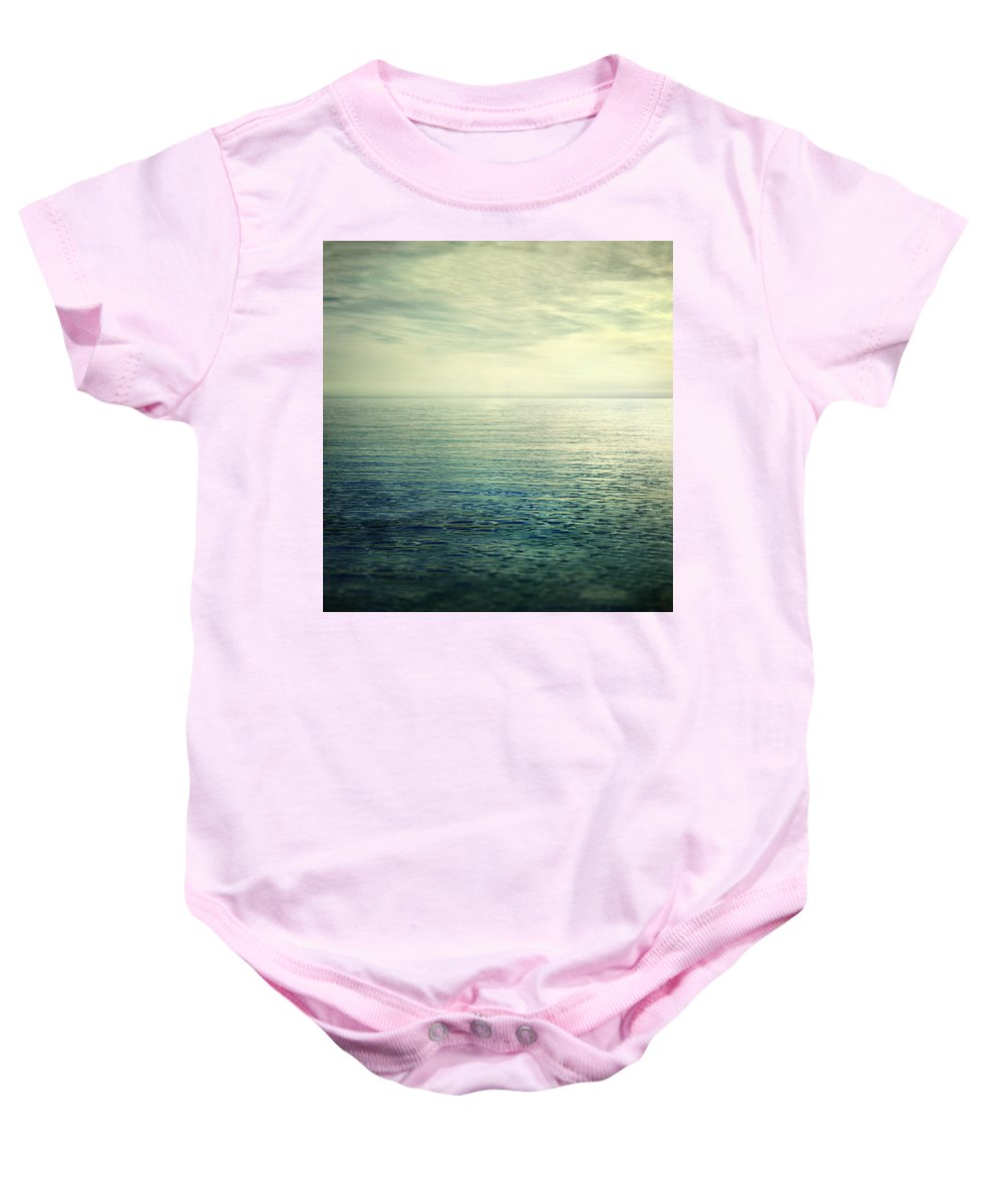 Landscape Baby Onesie featuring the photograph Calm At The Summer Sea by Guido Montanes Castillo