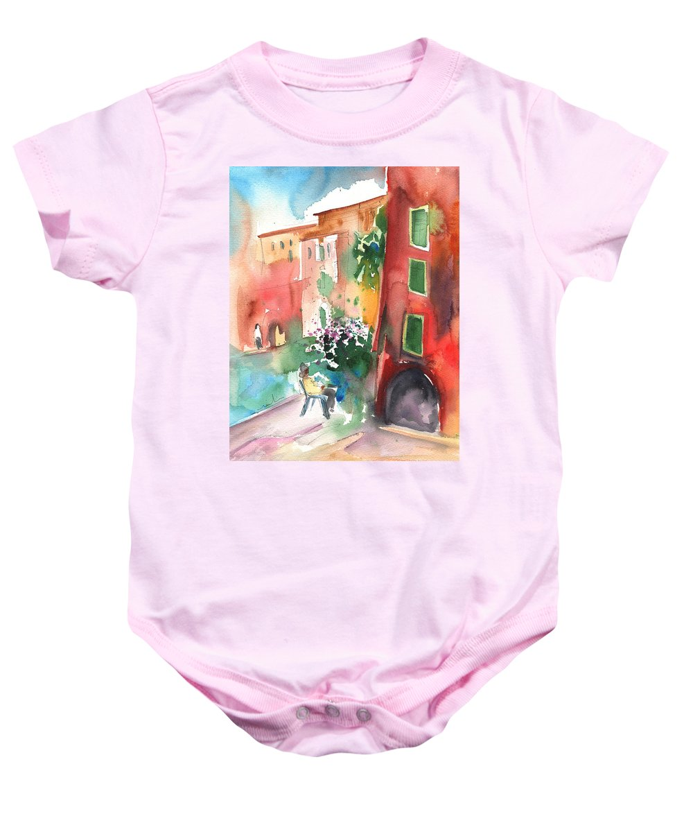 Italy Baby Onesie featuring the painting Camogli In Italy 12 by Miki De Goodaboom