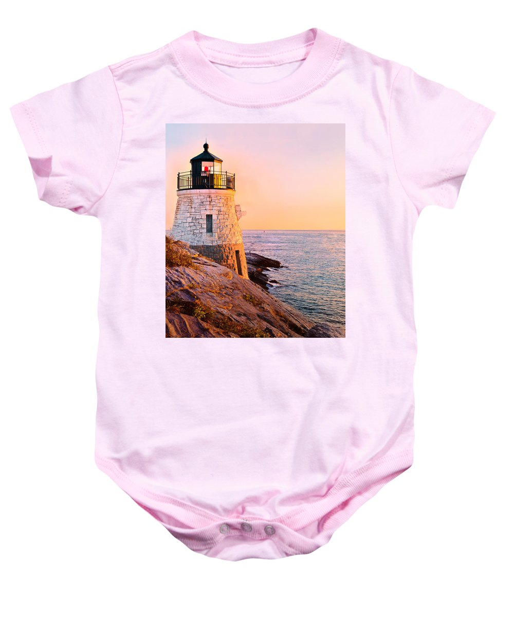 Castle Baby Onesie featuring the photograph Castle Hill Light 3 by Marianne Campolongo