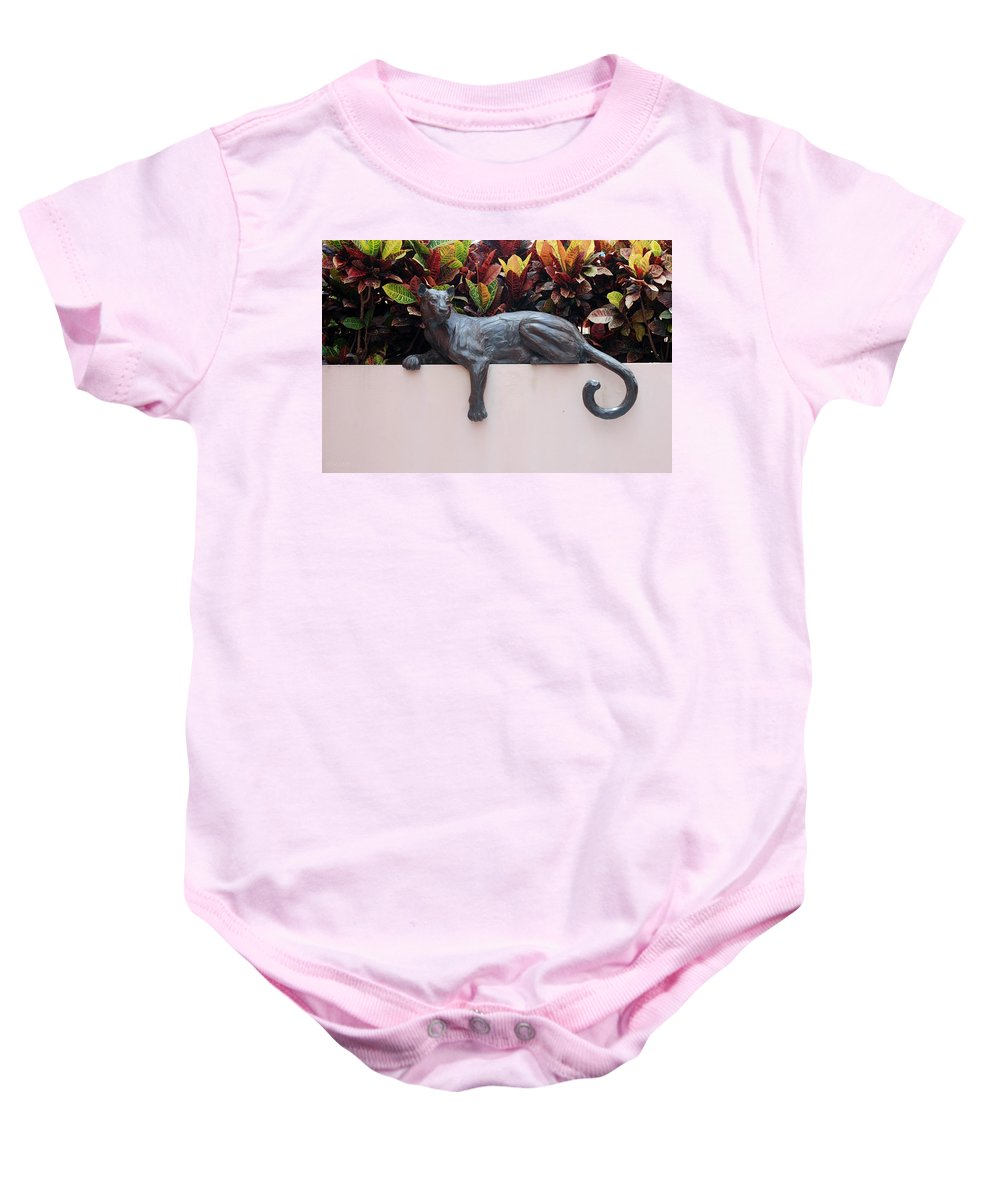 Cat Baby Onesie featuring the photograph CAT by Rob Hans