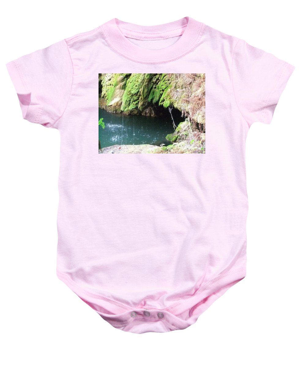 West Cave Baby Onesie featuring the photograph Cave Kisses by Lisa Schulz Quimby
