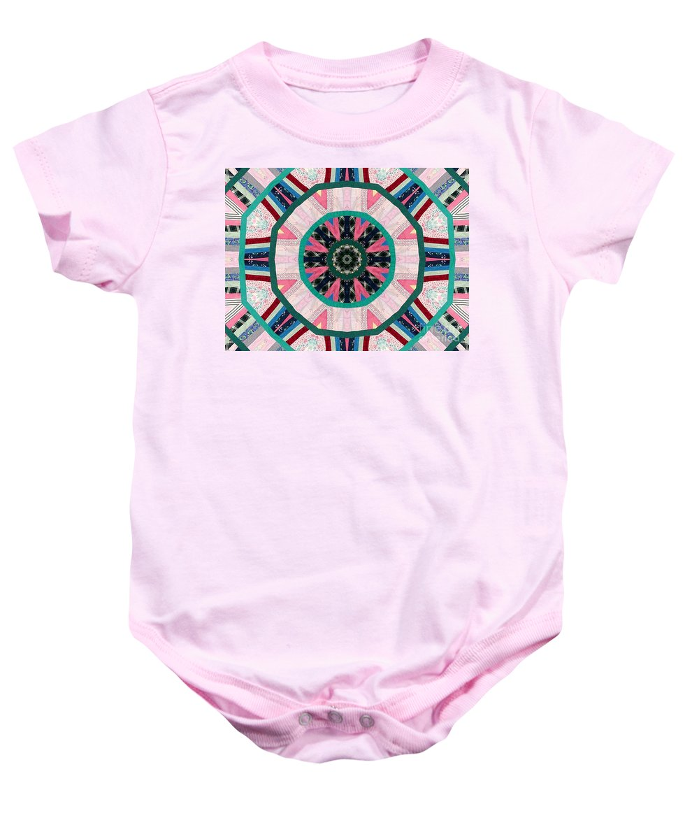 Patchwork Baby Onesie featuring the photograph Circular Patchwork Art by Barbara Griffin