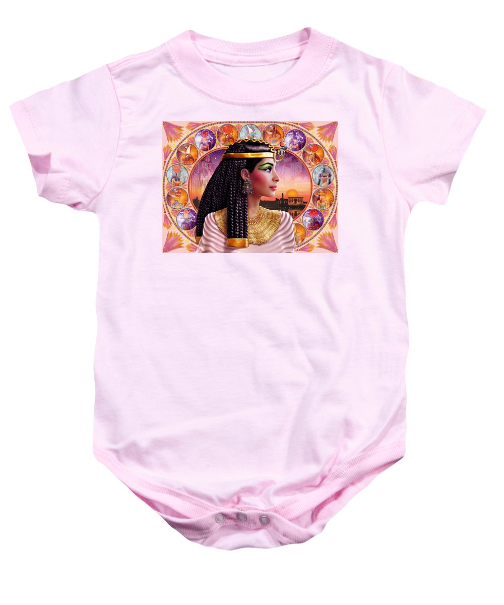 Adult Baby Onesie featuring the photograph Cleopatra Variant 3 by Andrew Farley