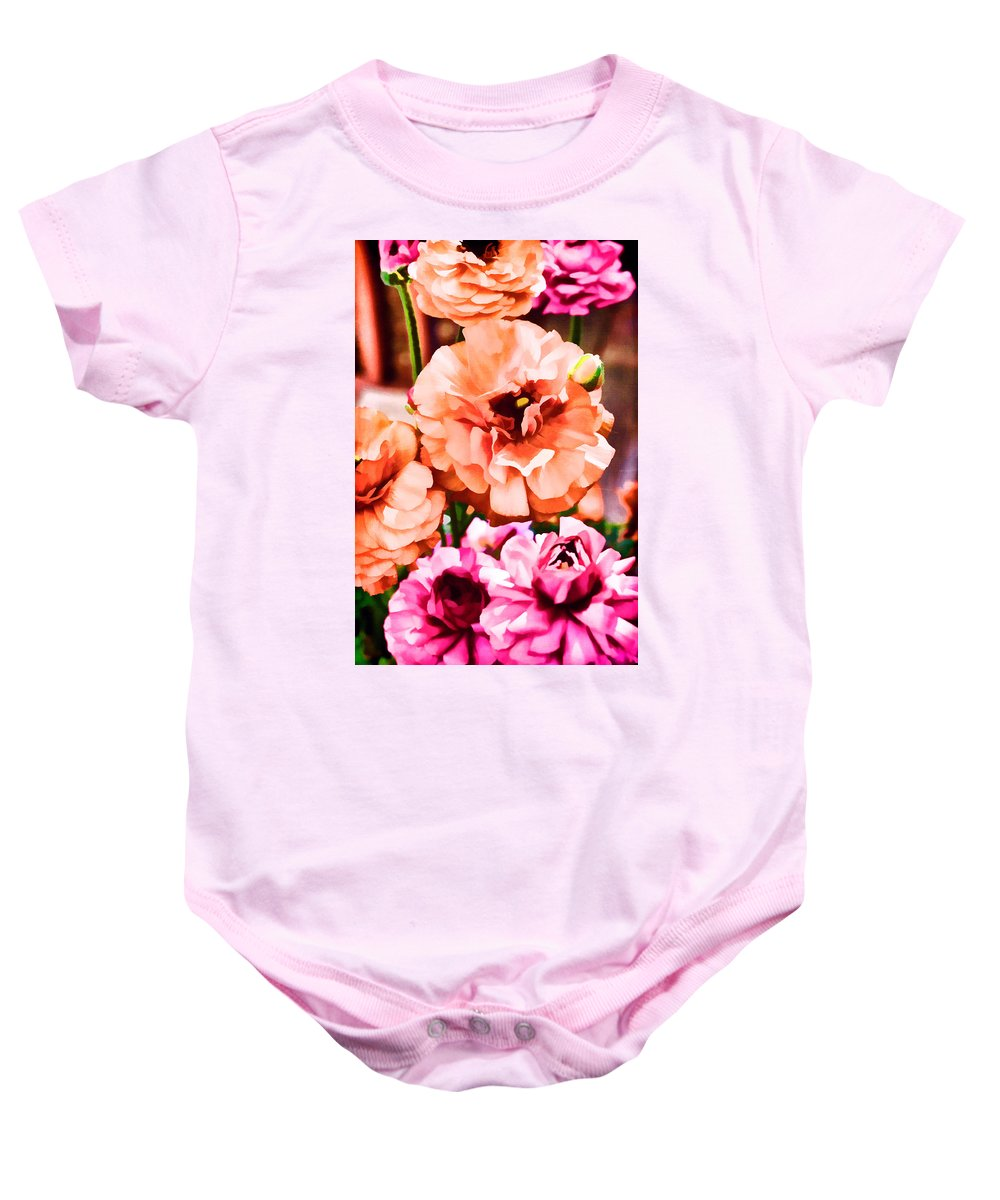 Floral Baby Onesie featuring the photograph Color 145 by Pamela Cooper