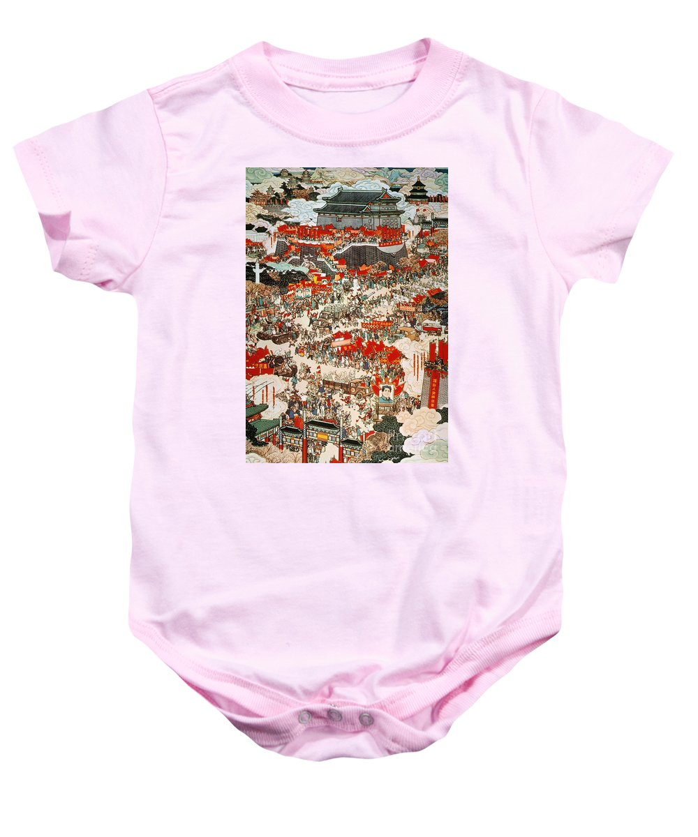 1949 Baby Onesie featuring the painting Communist Revolution 1949 by Granger