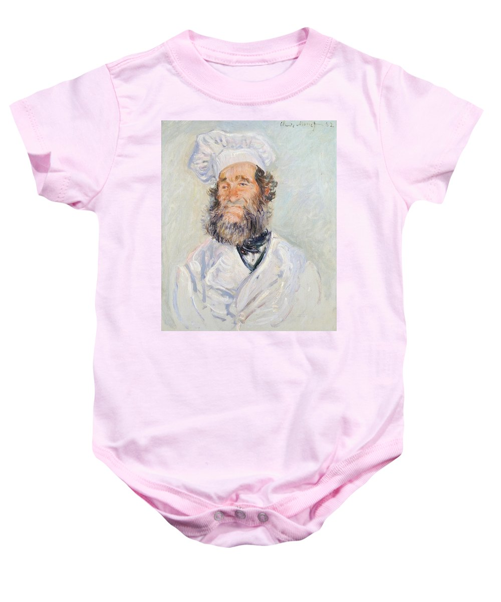 Art; Painting; 19th Century Painting; Europe; France; Monet Claude; Cook; Monet Baby Onesie featuring the painting Cook by Claude Monet