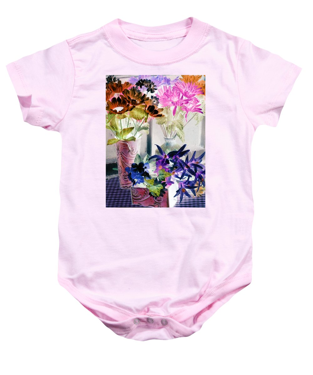 Flower Baby Onesie featuring the photograph Country Comfort - Photopower 517 by Pamela Critchlow