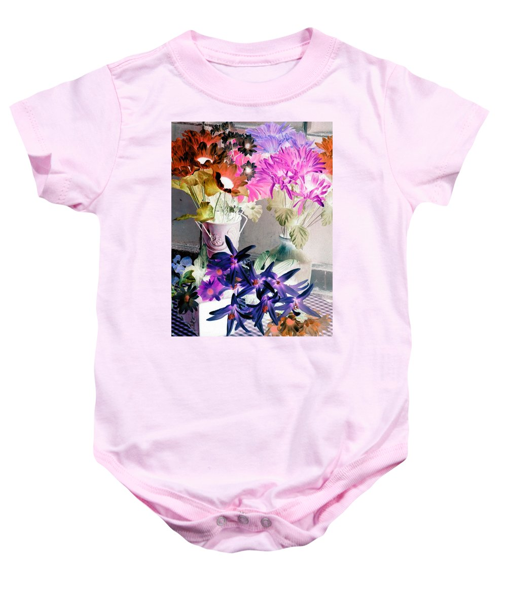 Flower Baby Onesie featuring the photograph Country Comfort - Photopower 518 by Pamela Critchlow