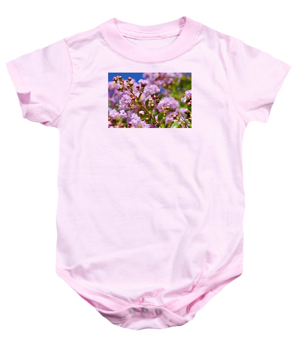 Photography Baby Onesie featuring the photograph Crepe Myrtle by Kaye Menner