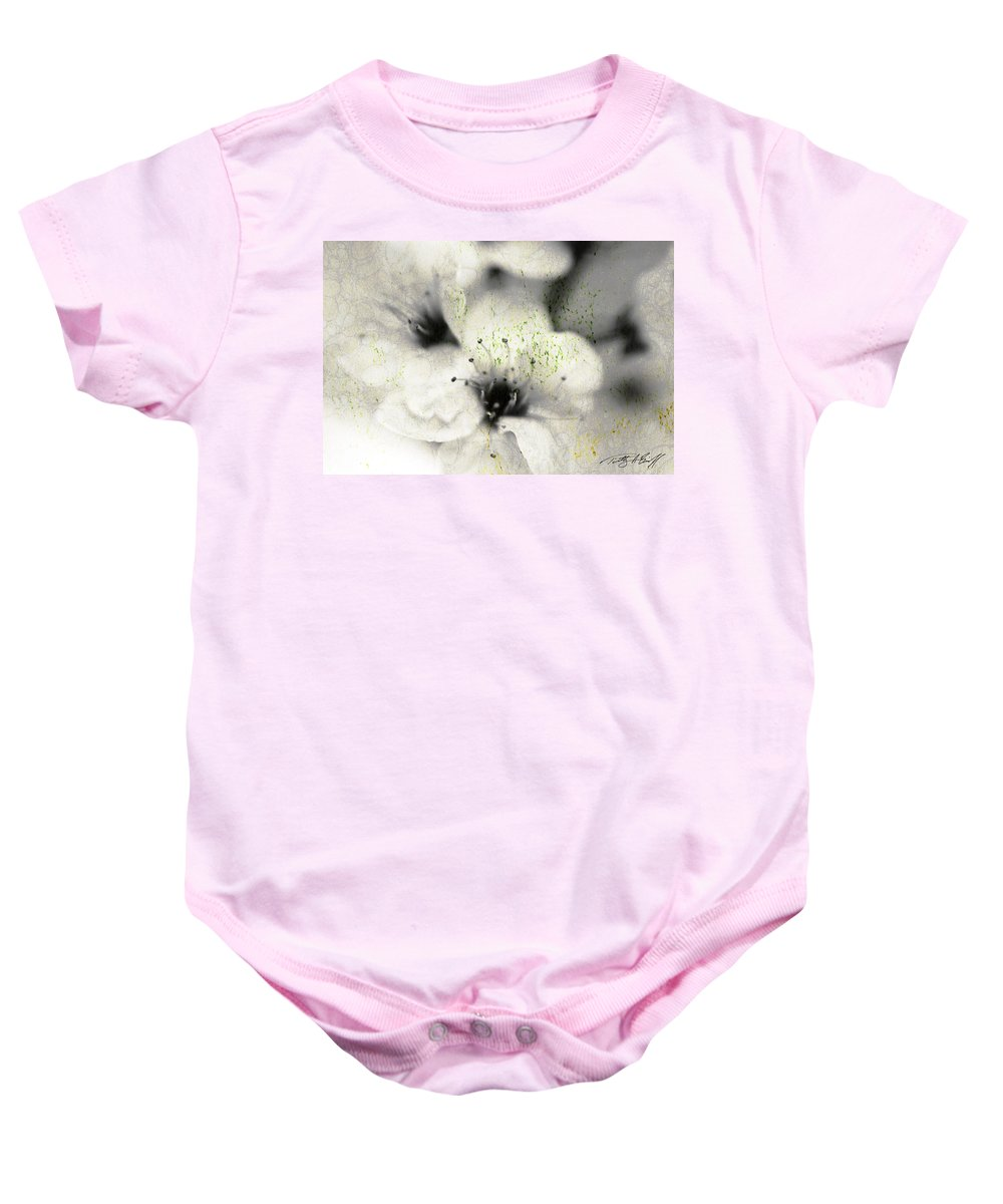 Botanical Baby Onesie featuring the photograph Damaged Blooms by Timothy Bischoff