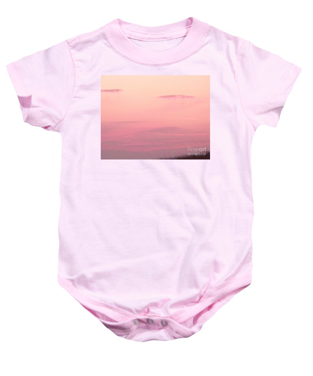 Sky Baby Onesie featuring the photograph Days End Sky At Cape May Nj by Eric Schiabor