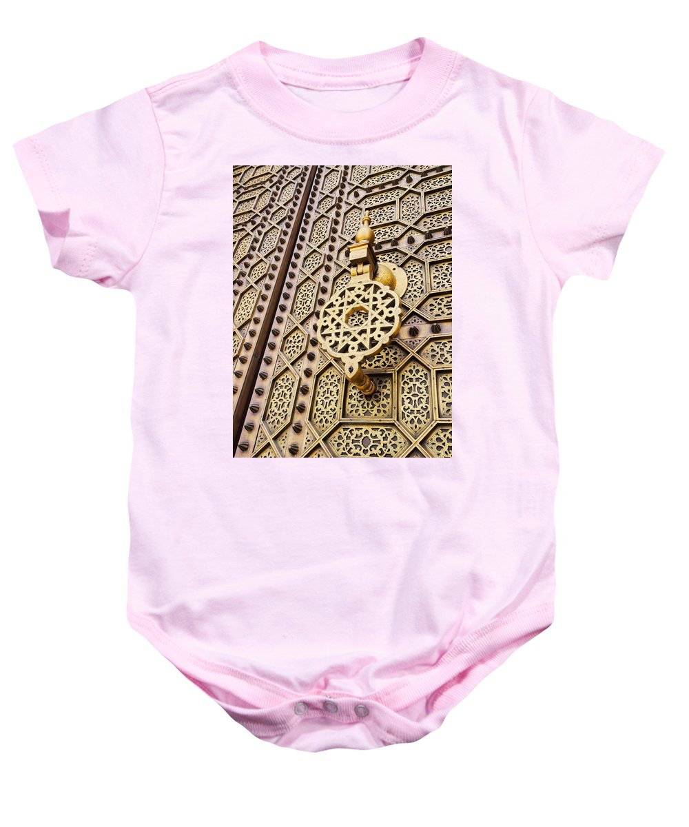 Africa Baby Onesie featuring the photograph Doors Of The Hassan Mosque In Rabat by Karol Kozlowski