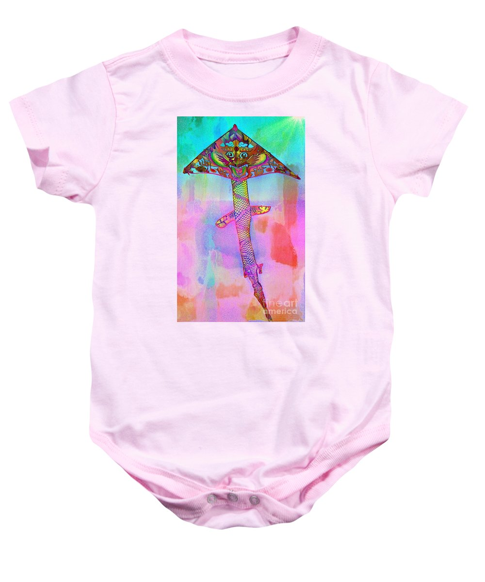 Dragon Baby Onesie featuring the photograph Dragon Kite by Lilliana Mendez