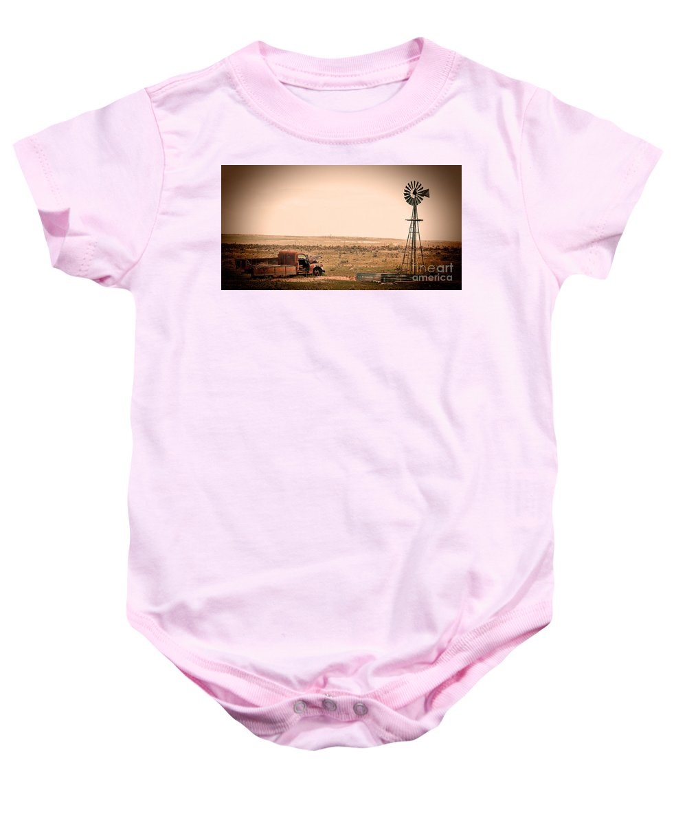 Pawnee Buttes Baby Onesie featuring the photograph Echoes by Jim Garrison