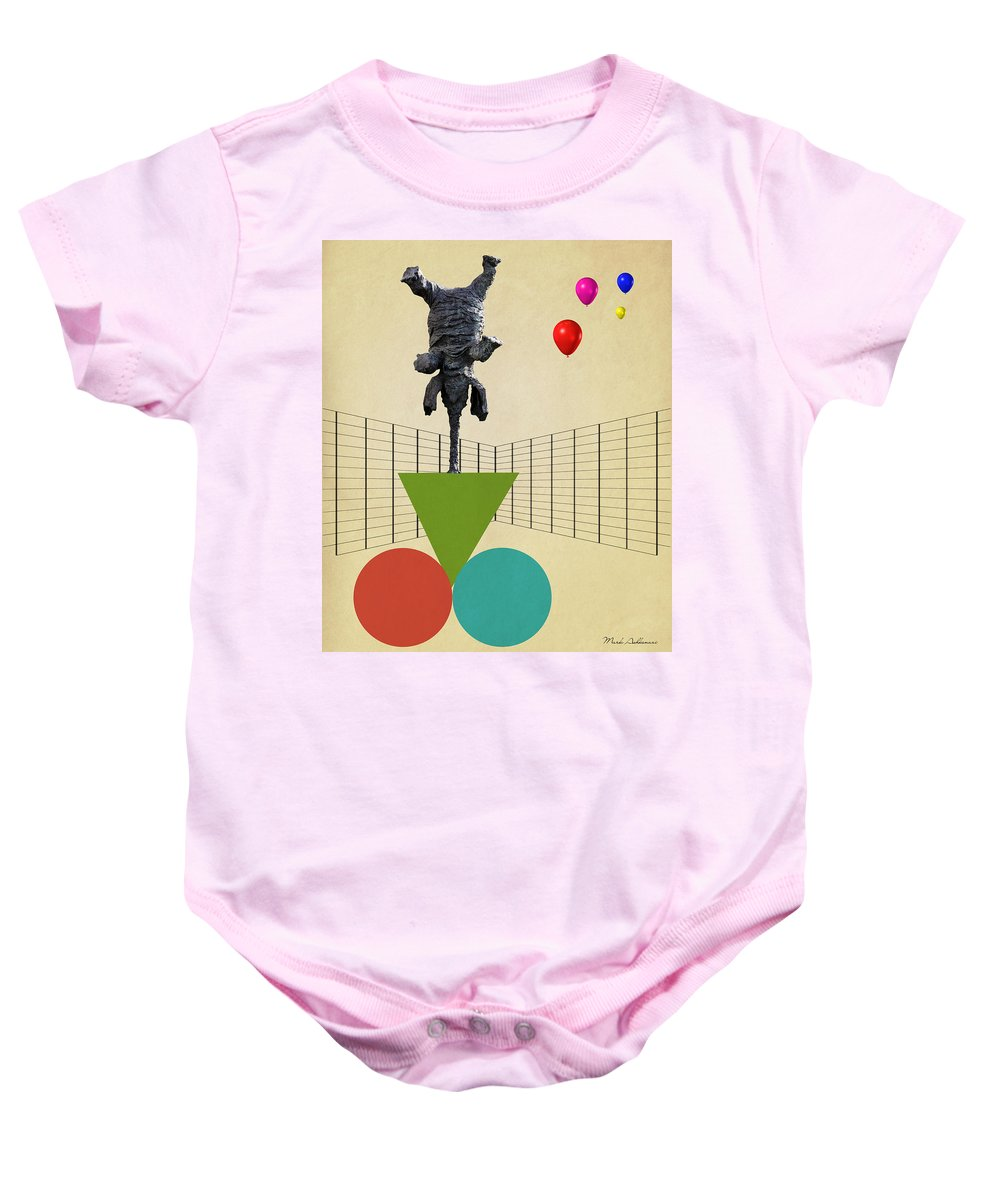 Elephant Baby Onesie featuring the digital art Elephant 3 by Mark Ashkenazi