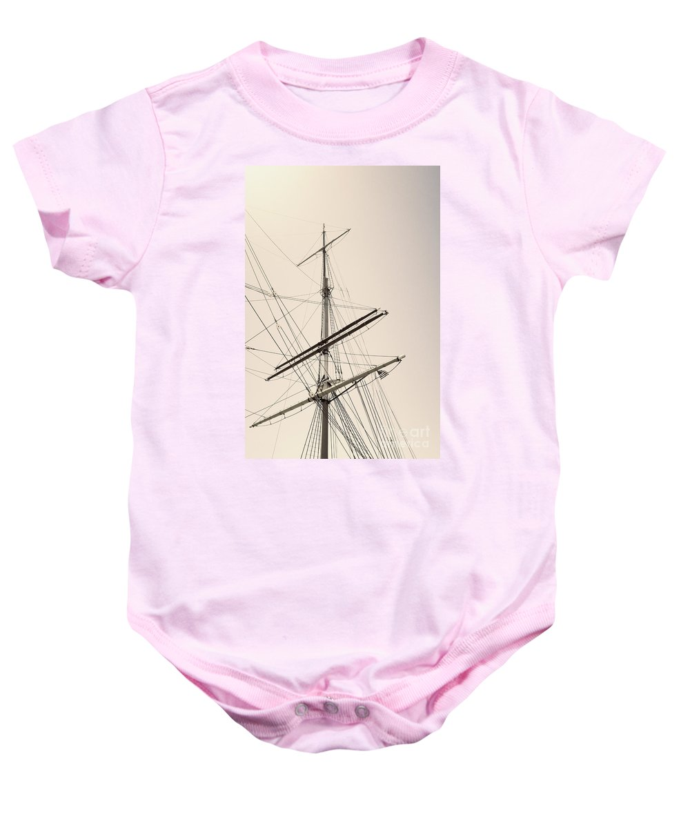 Boat Baby Onesie featuring the photograph Empty Sails by Margie Hurwich