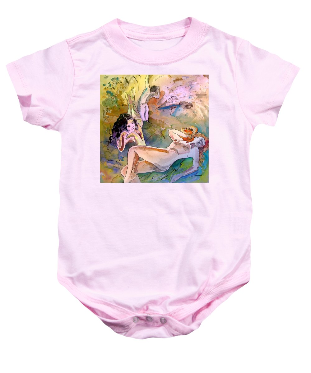 Erotic Baby Onesie featuring the painting Eroscape 1201 by Miki De Goodaboom