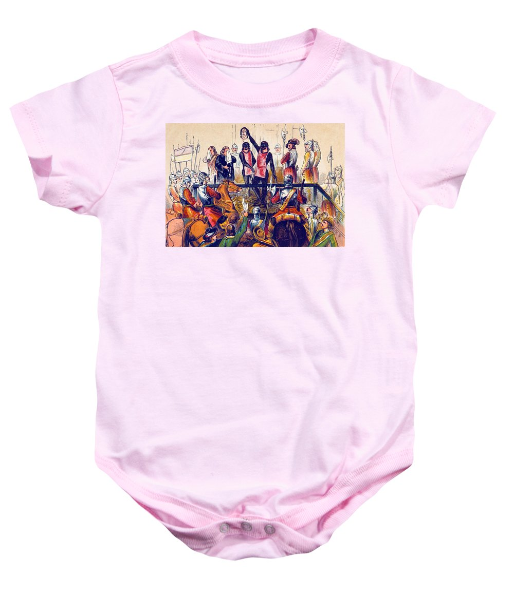 History Baby Onesie featuring the photograph Execution Of Charles I, 1649 by British Library