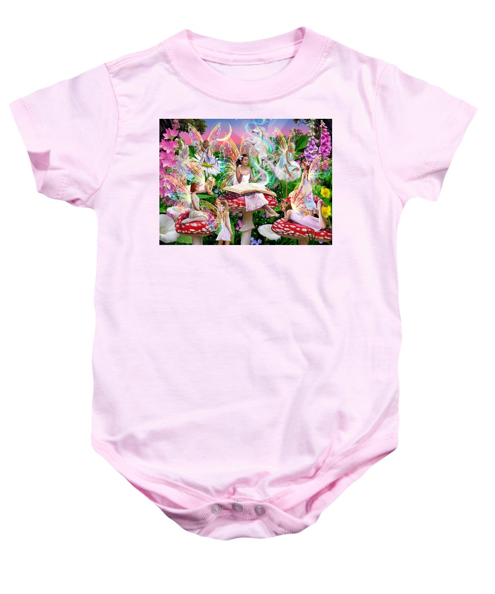 Book Baby Onesie featuring the photograph Fairy Story by Garry Walton