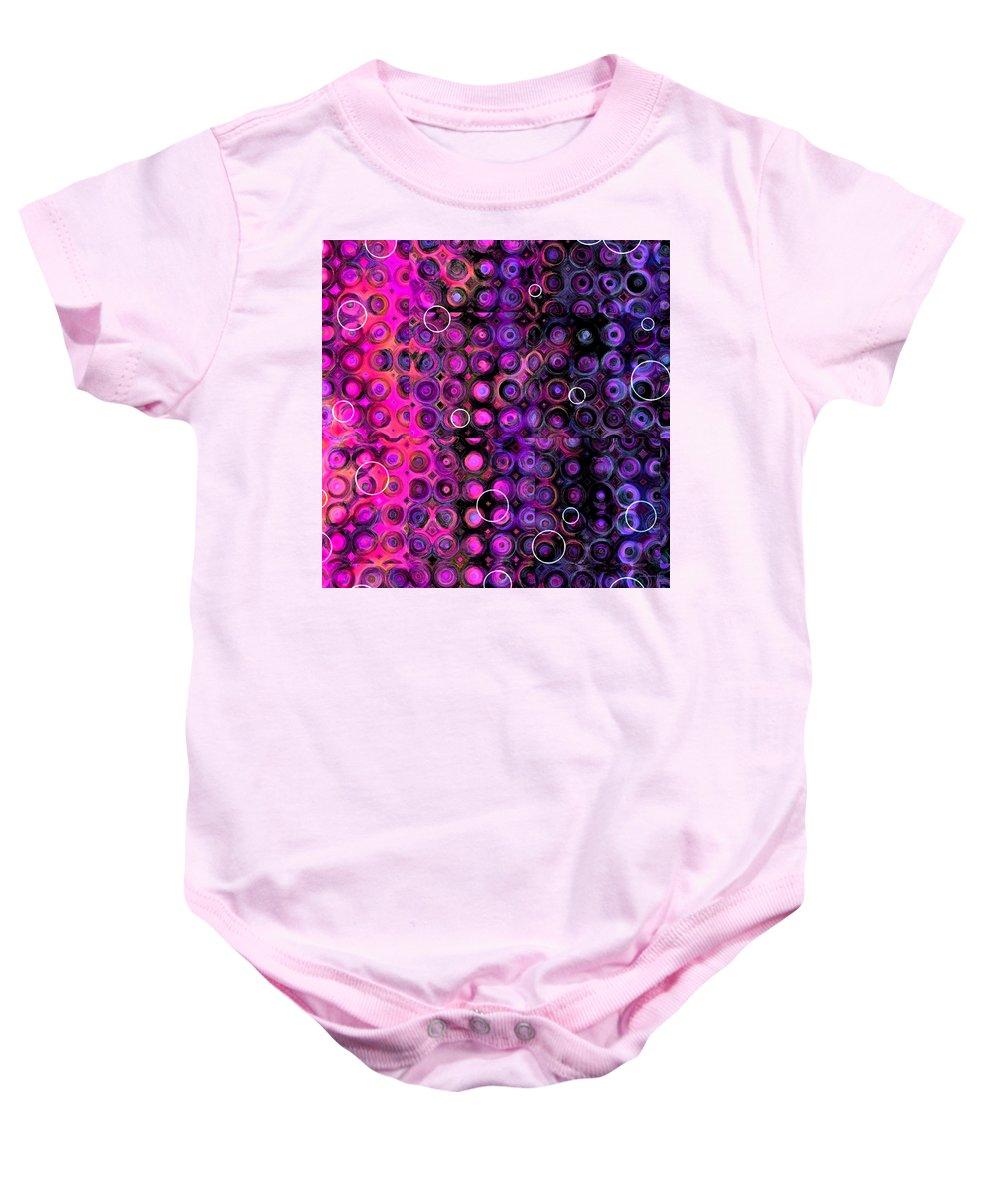 Quilt Baby Onesie featuring the digital art Favorite Old Quilt by Judi Suni Hall