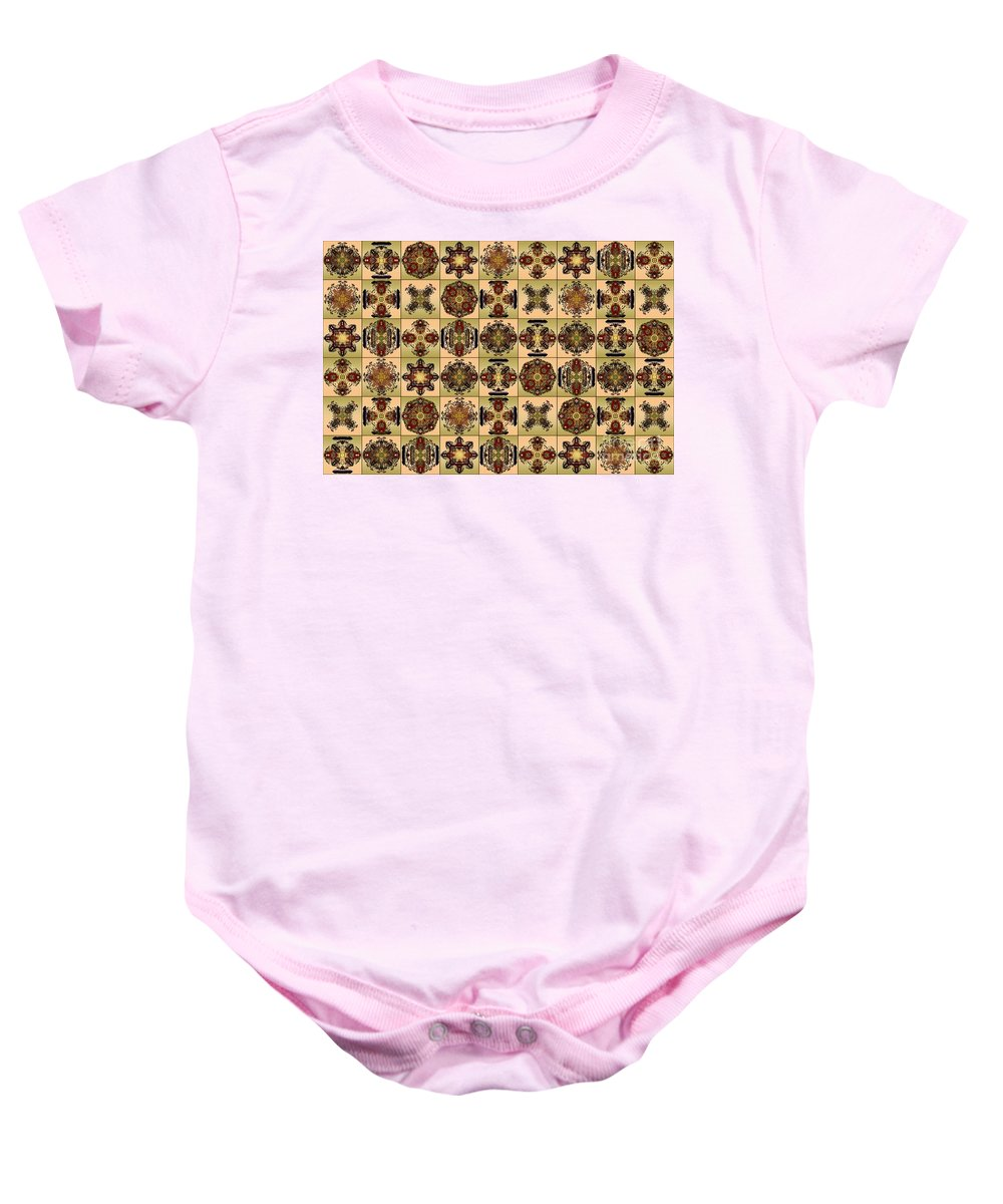 Flowers Baby Onesie featuring the digital art Fifty Four Tiles by Paul Gentille