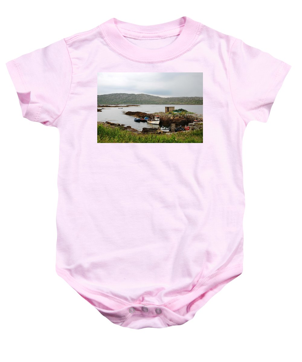 Boats Baby Onesie featuring the photograph Fishermans Landing by Charlie and Norma Brock