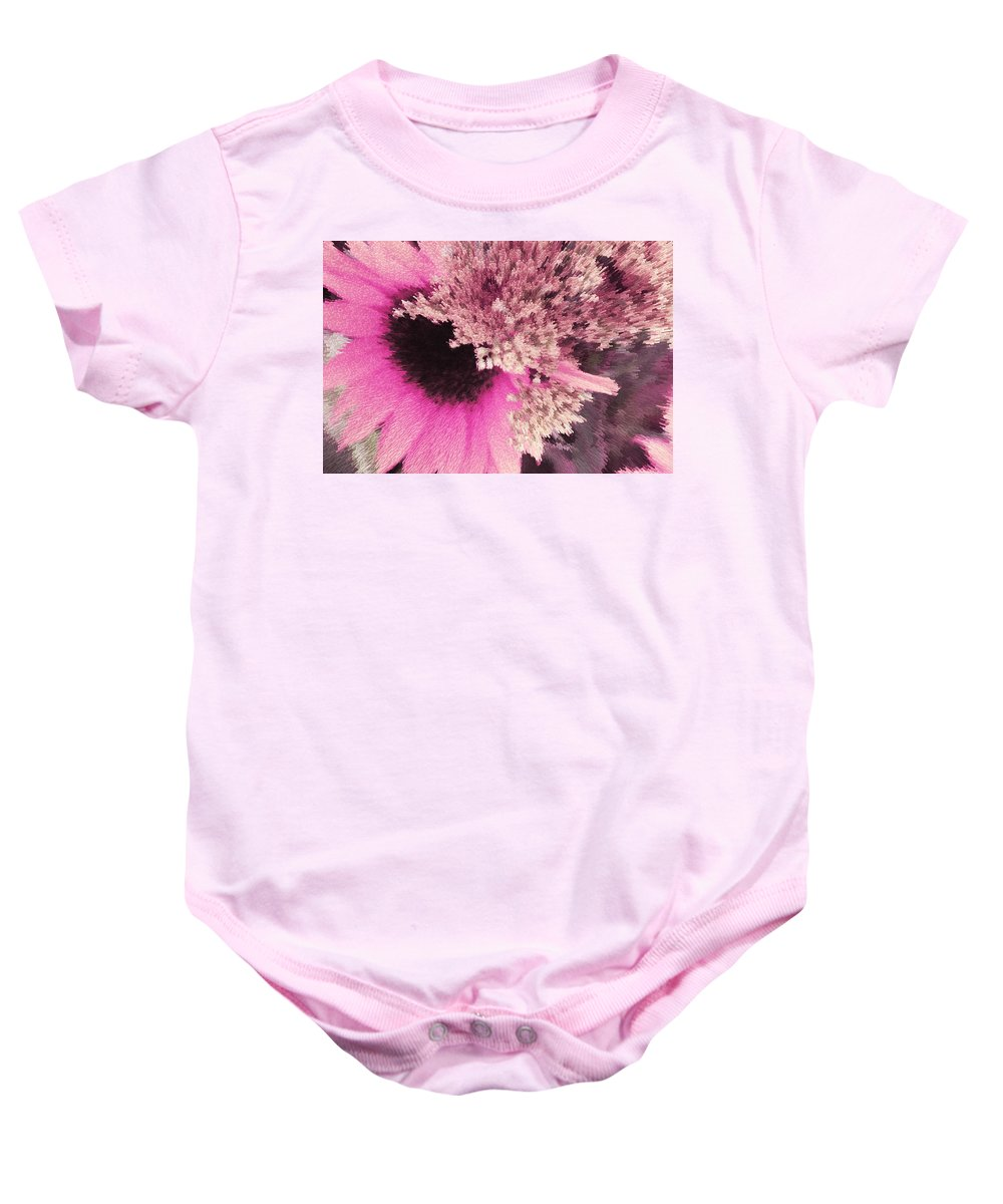 Abstract Baby Onesie featuring the photograph Floral Art Xxiii by Tina Baxter