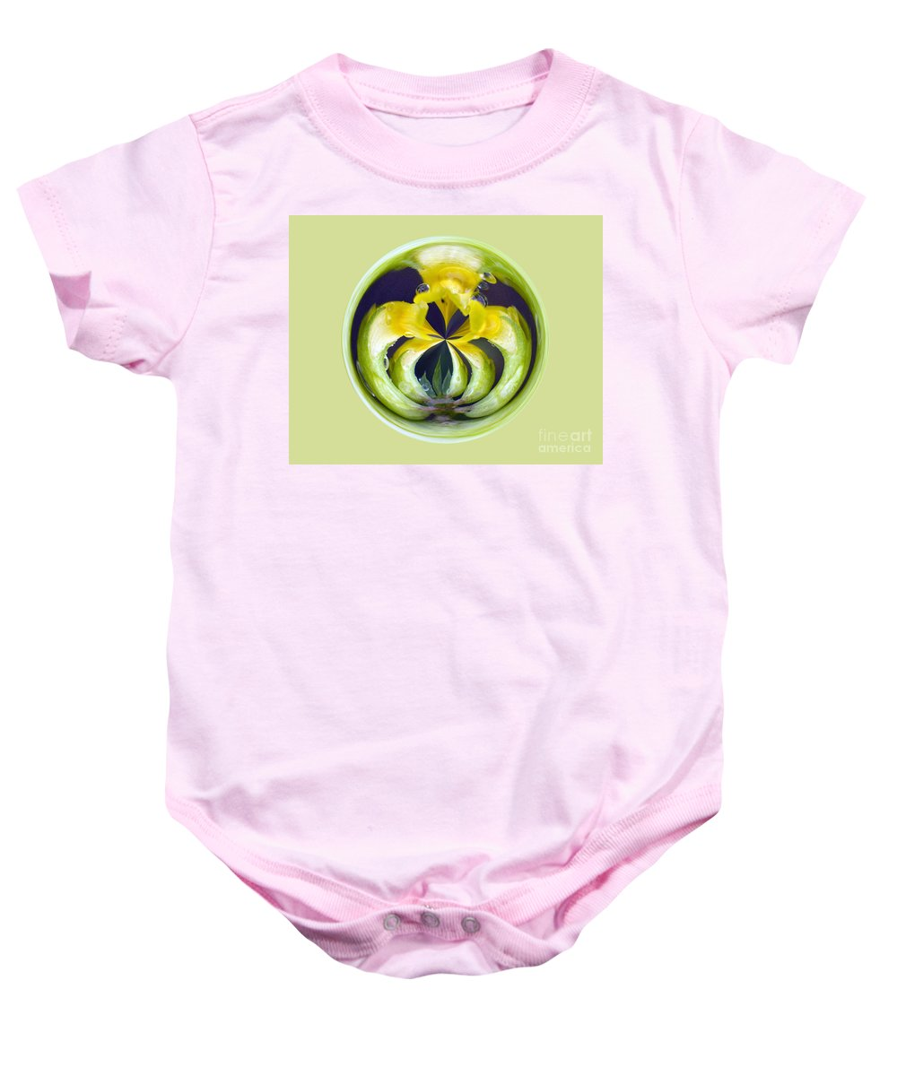 Yellow Flower Arms Baby Onesie featuring the photograph Flower Arms by Darleen Stry