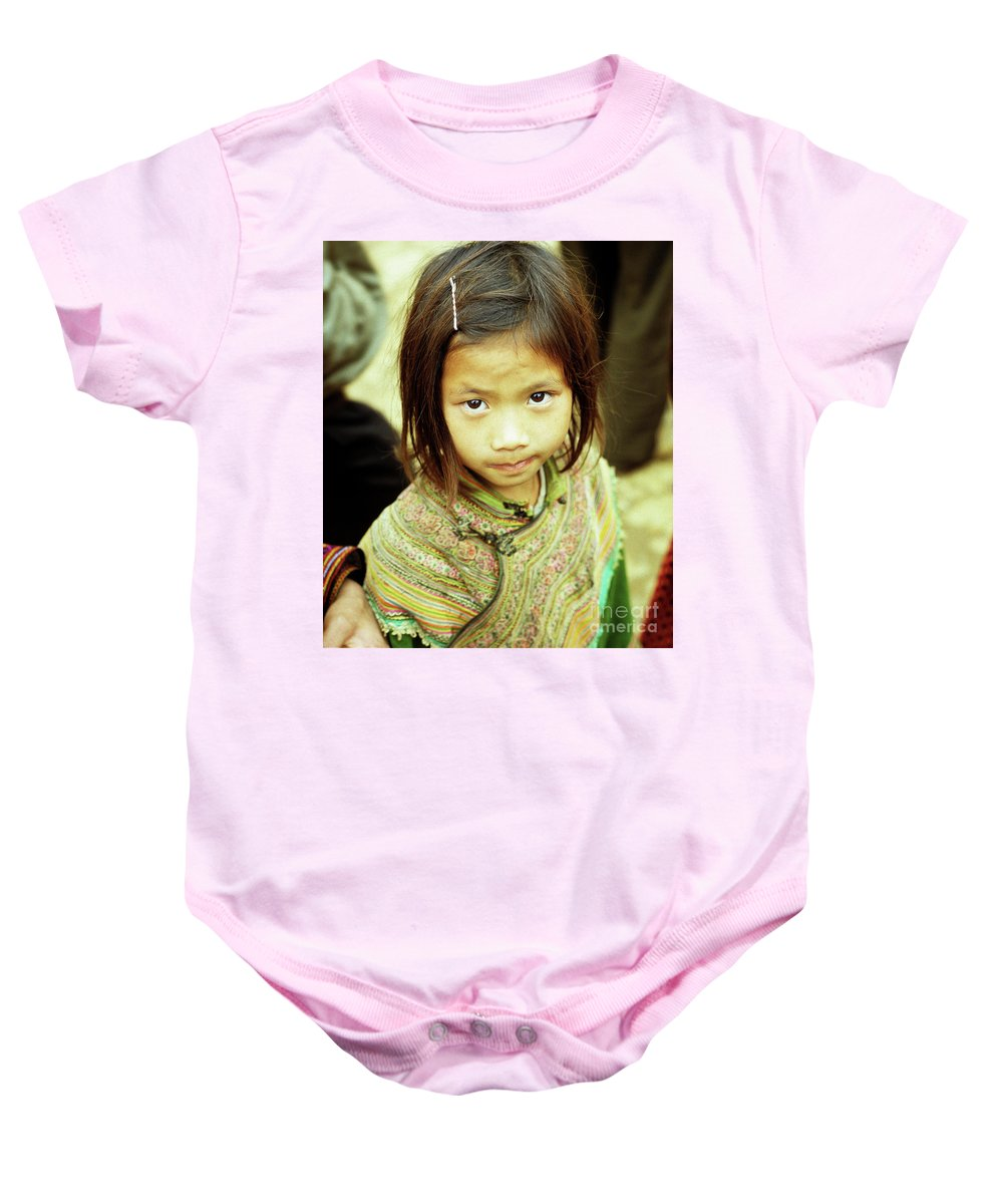 Vietnam Baby Onesie featuring the photograph Flower Hmong Girl 02 by Rick Piper Photography